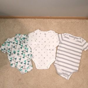 Aden and Anais set of 3 onesies